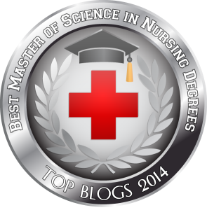 Badge - Best Master of Science in Nursing Degrees - Top Blogs 2014