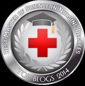 Badge - Best Master of Science in Nursing Degrees - Top Blogs 2014