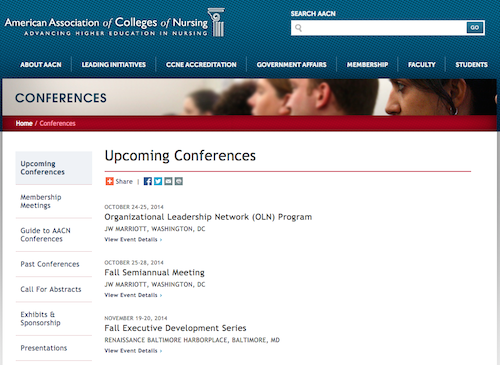 aacn upcoming conferences