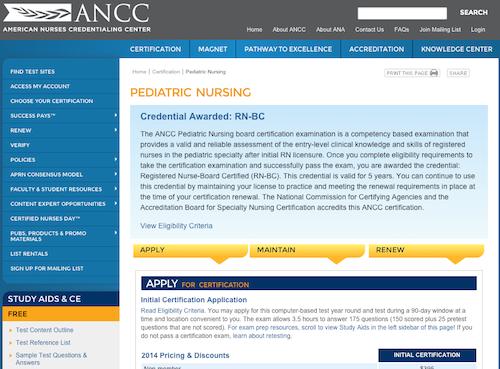 ancc ped nursing