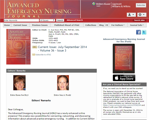 Emergency Room Clinical Practice Guidelines