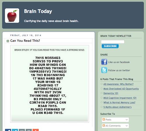 brain today