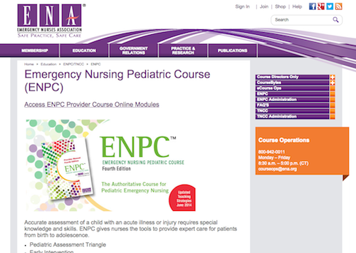emer nurse ped course
