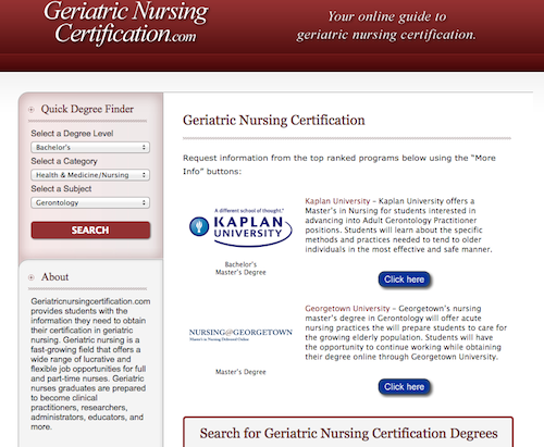 50 Great Websites for Gerontology Nurses