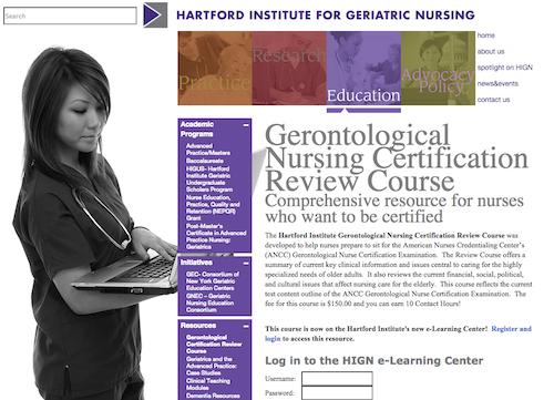 hartford gerontolgoical nursing cert review course