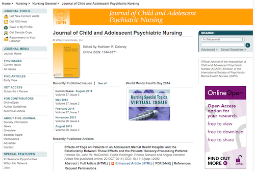 journal of child and adolescent psych