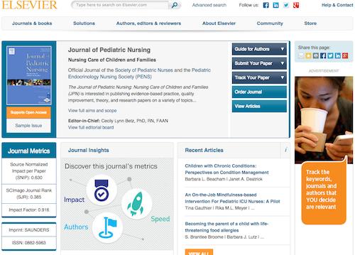 journal of ped nursing