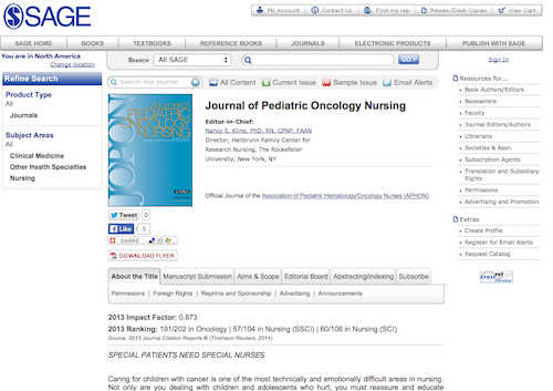 journal of ped oncology