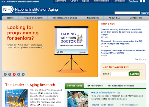 national inst on aging
