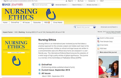 nurisng ethics