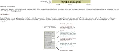 nursing calc