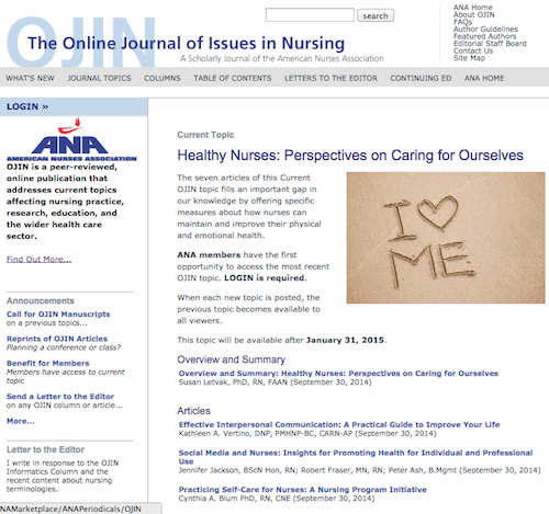 online journal of issues