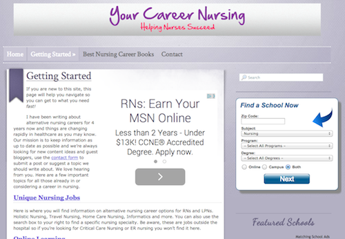 your career nursing