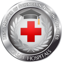 Badge - Best Master of Science in Nursing Degrees -  Great Hospitals