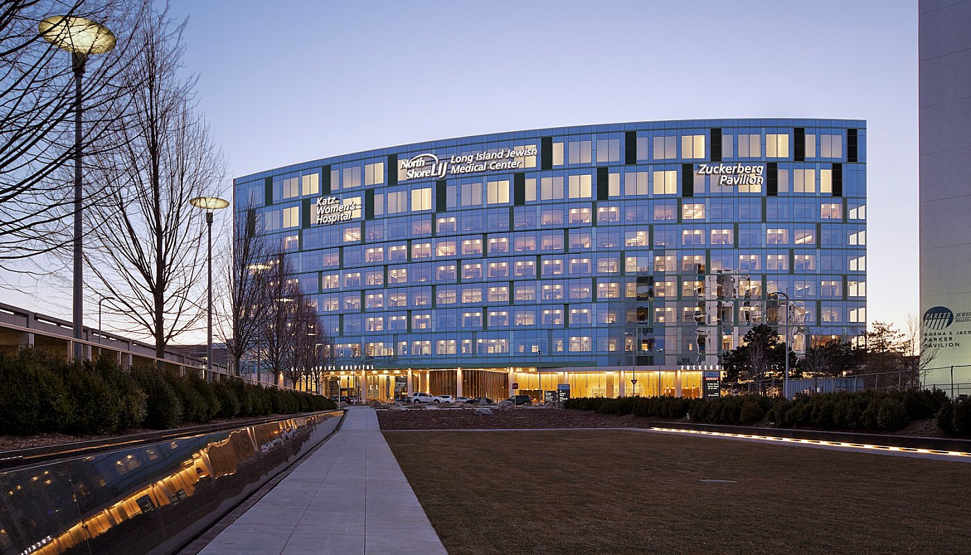 North-Shore-LIJ-Katz-Women-Hospital-and-Zuckerberg-Pavillion-modern-hospitals